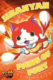 Plakat Yo-Kai Watch Jibanyan Paws of Fury