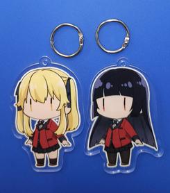 Zestaw 2 breloczków Kakegurui - Yumeko i Mary